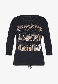 LeComte - MIT GLITZERNDEM FRONT-PRINT UND NIETEN - Long sleeved top - schwarz - 0