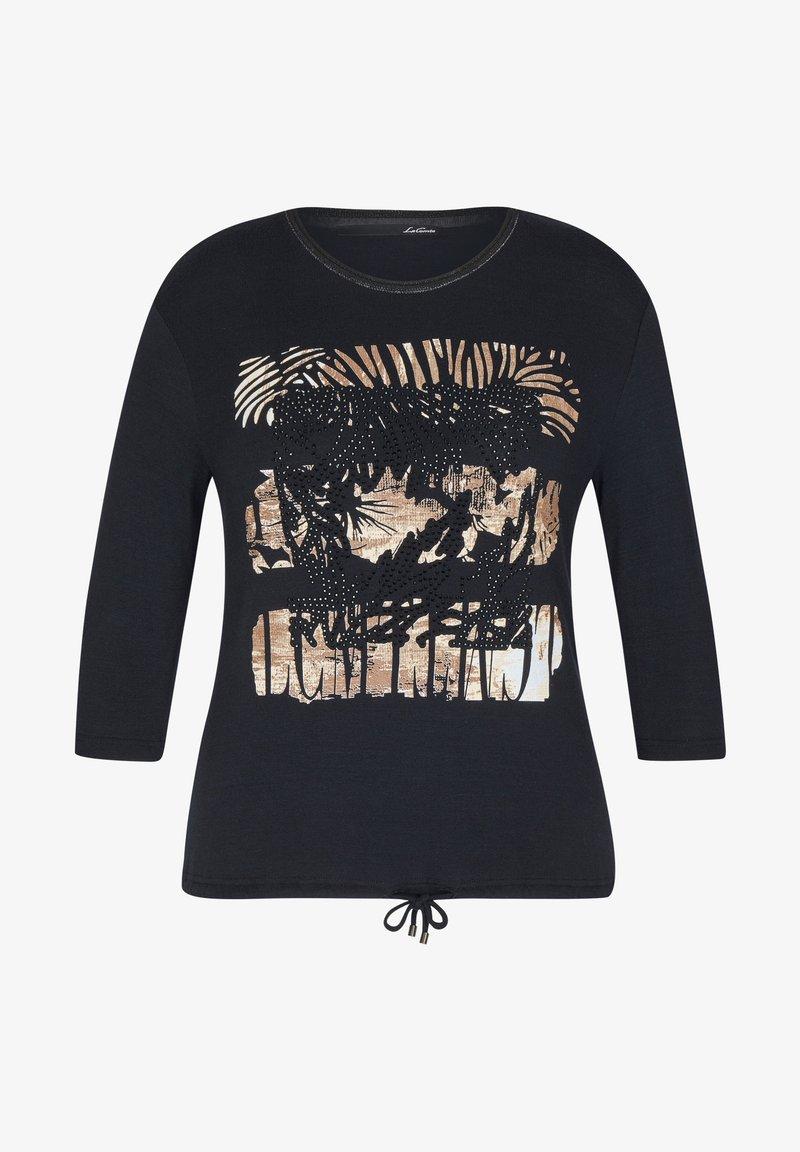 LeComte - MIT GLITZERNDEM FRONT-PRINT UND NIETEN - Long sleeved top - schwarz