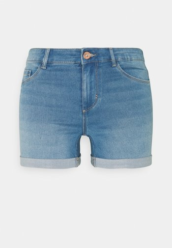 ONLROYAL LIFE REG SHORT - Denim shorts - light blue denim
