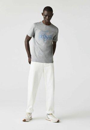 Print T-shirt - heidekraut grau