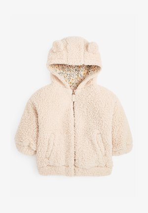 FLEECE HOODY - Fleece jacket - off-white