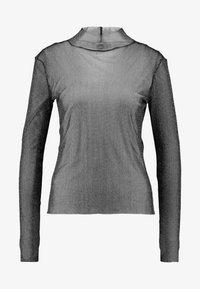 JAVA - Top sdlouhým rukávem - black/silver