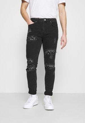 BIKER BANDANA PATCH - Jeans Skinny Fit - black