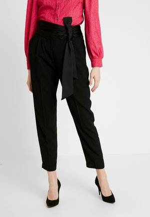 WILLOW BOW FRONT PANTS - Trousers - black