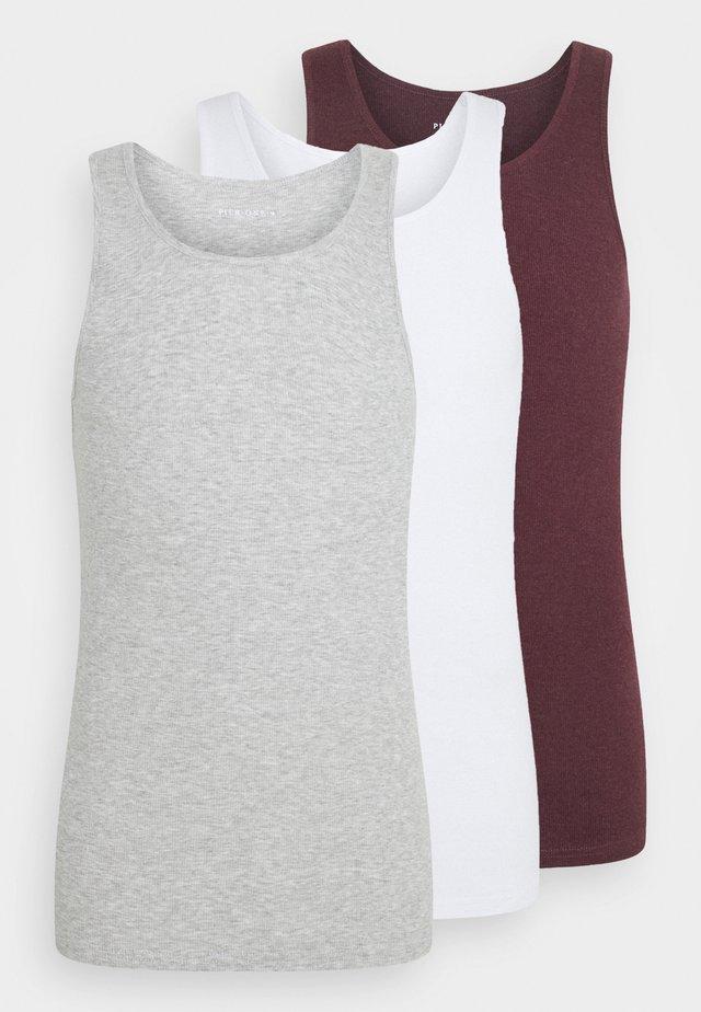3 PACK - Top - white/light grey