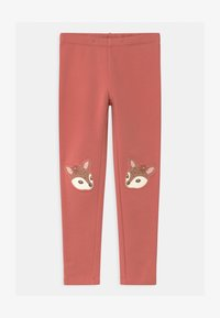 Lindex - MINI DEER PRINT KNEEPATCH - Leggings - Trousers - dusty pink - 0