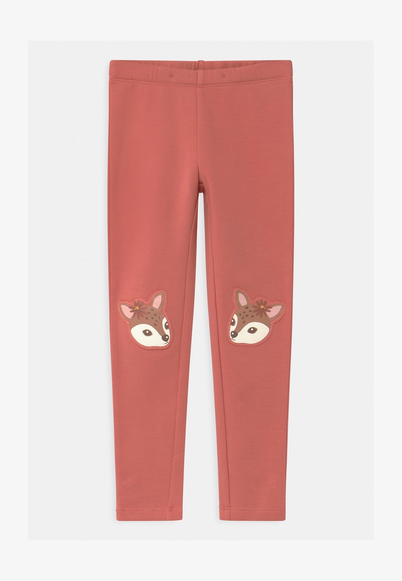 Lindex - MINI DEER PRINT KNEEPATCH - Leggings - Trousers - dusty pink