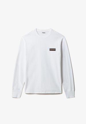 S-PATCH LS - Maglietta a manica lunga - bright white