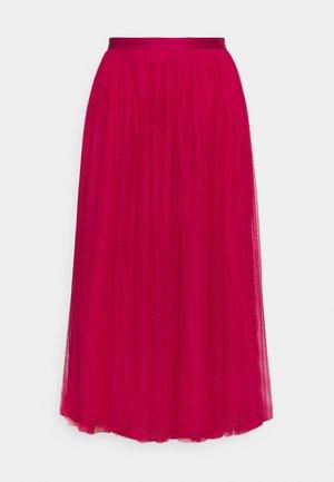 DOTTED MIDAXI SKIRT - Áčková sukně - fuchsia