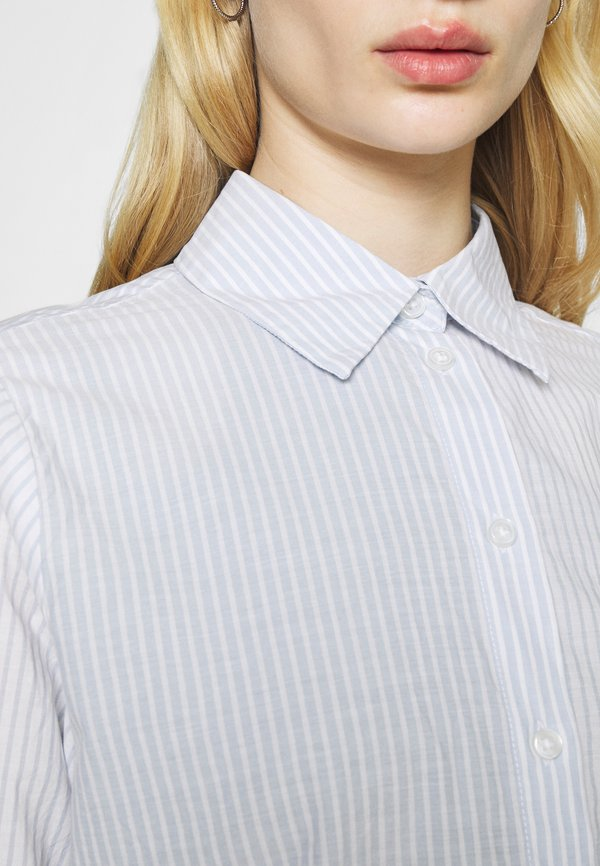 Weekday GWEN - Koszula - blue/white/niebieski VZMK