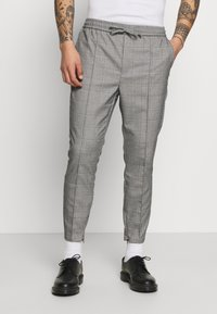 Kings Will Dream - RALPHI SMART JOGGERS - Trousers - grey check - 0