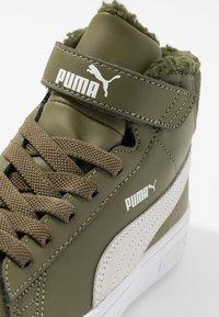 Puma - SMASH MID - Korkeavartiset tennarit - burnt olive/white - 2
