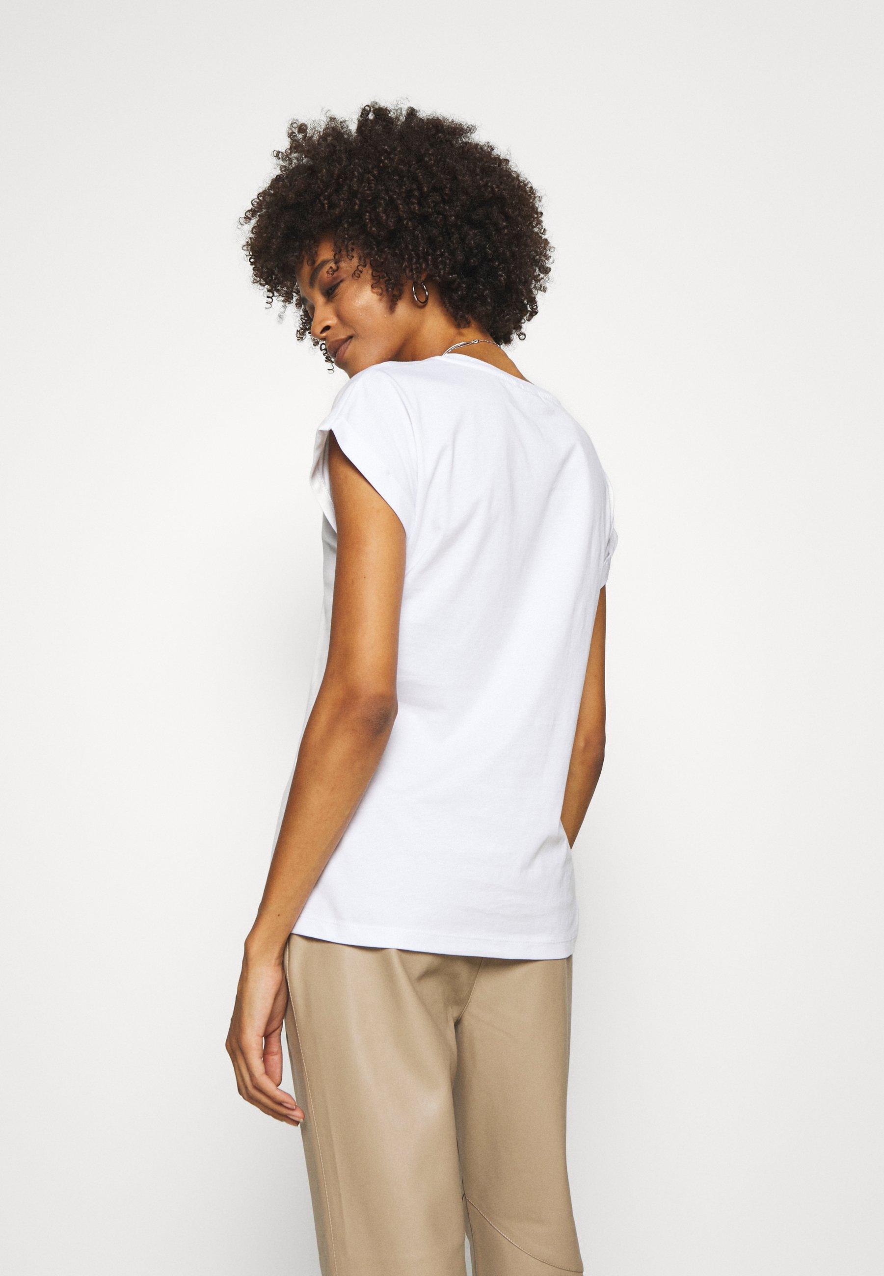 Cream Carriac - T-shirts Med Print White/hvit