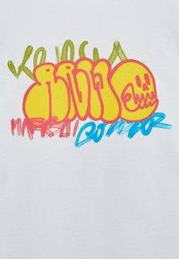 PULL&BEAR - Print T-shirt - white - 5
