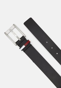 Tommy Jeans - FLAG INLAY BELT - Ceinture - black - 1