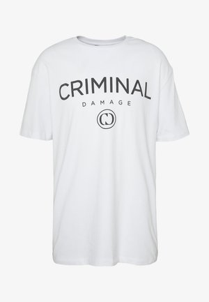 SIMPLE TYPE TEE - Triko s potiskem - white