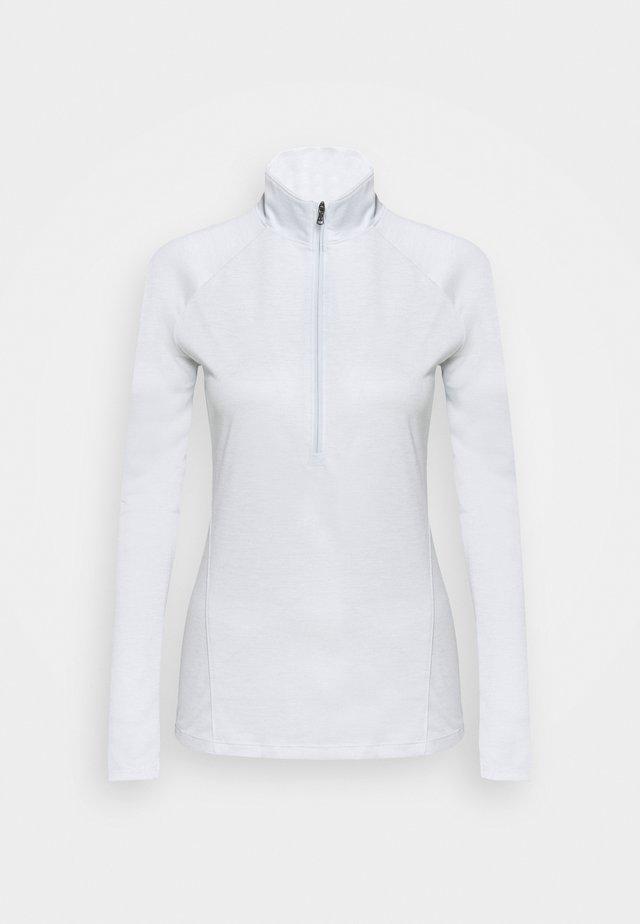 TECH ZIP TWIST - T-shirt sportiva - halo gray