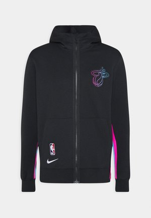 NBA MIAMI HEAT CITY EDITION THERMAFLEX FULL ZIP JACKET - Article de supporter - black/laser fuchsia/blue gale