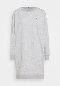 Tommy Hilfiger - OVERSIZED SHIFT SHORT DRESS  - Day dress - light grey heather - 0