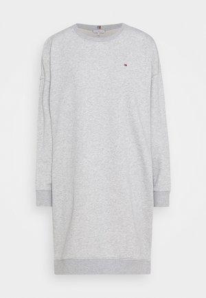 OVERSIZED SHIFT SHORT DRESS  - Day dress - light grey heather