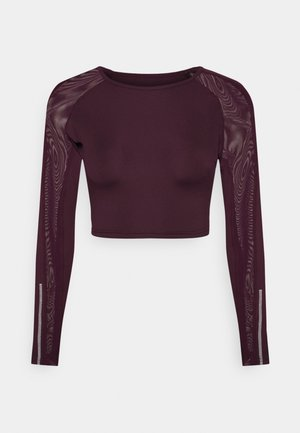 DETAIL - Long sleeved top - purple