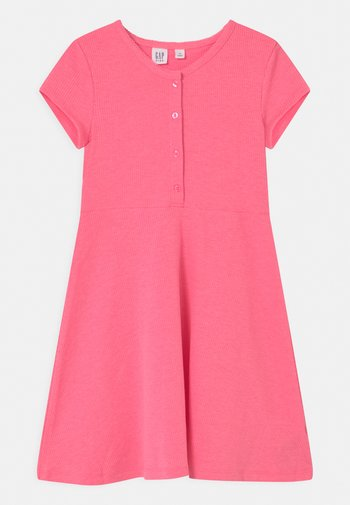 GIRL  - Jersey dress - neon pink rose