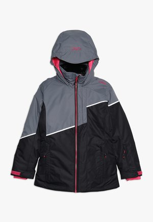 GIRL JACKET FIX HOOD - Laskettelutakki - nero