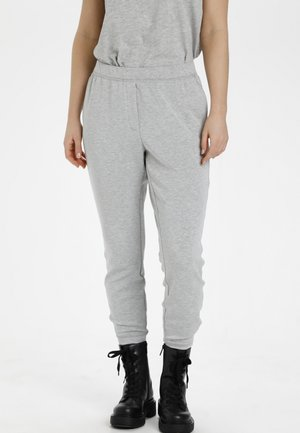 SWEAT - Tracksuit bottoms - titanium melange