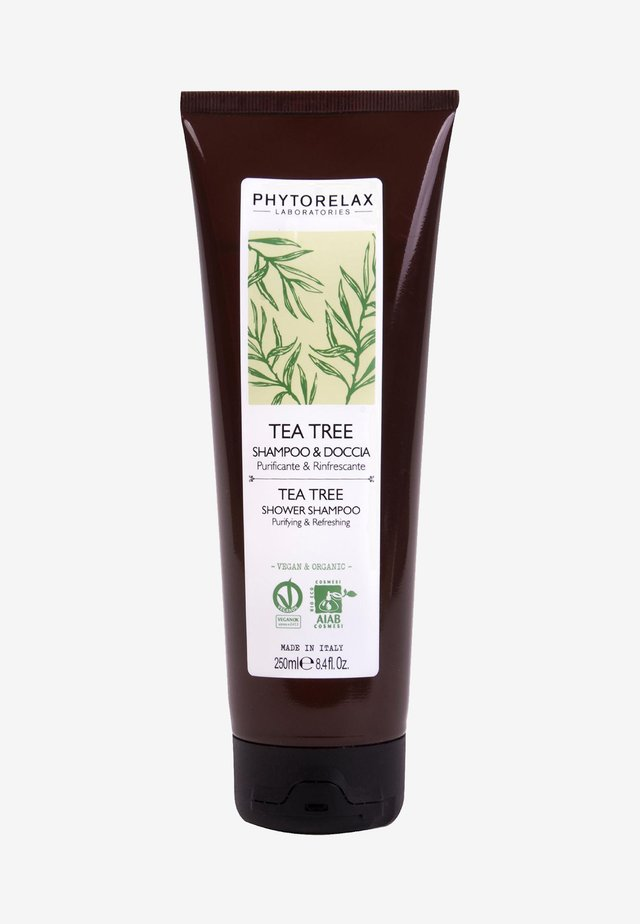 VEGAN & ORGANIC TEA TREE- PURIFYING & REFRESHING SHOWER SHAMPOO  - Docciaschiuma - -