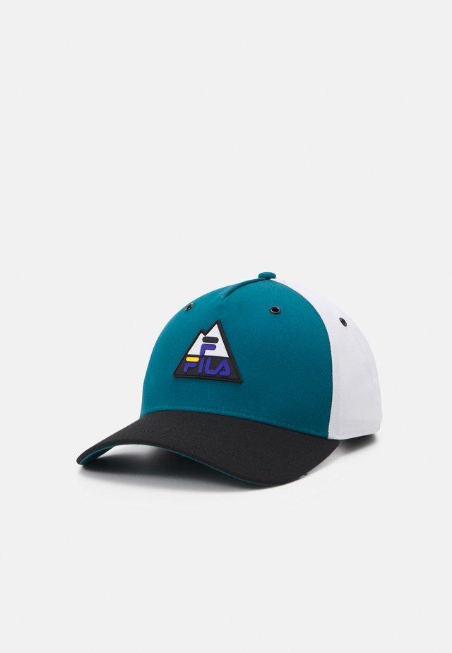 PANEL COLORBLOCK MOUNTAIN LOGO UNISEX - Keps - blanc de blanc/black/storm