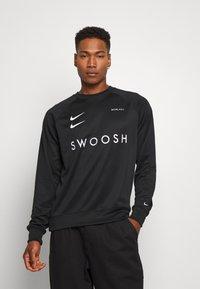 Nike Sportswear - CREW - Bluzka z długim rękawem - black/white - 0