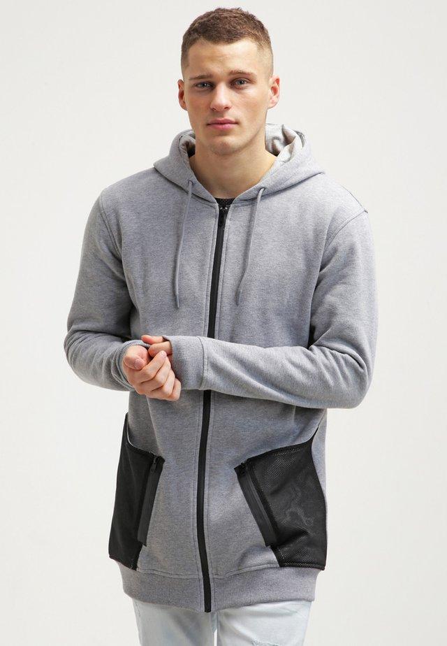 Zip-up hoodie - grey/black