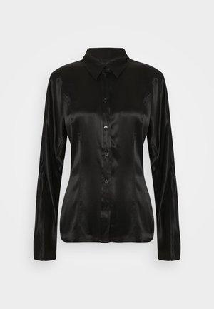 BENEDICTE BLOUSE - Button-down blouse - black