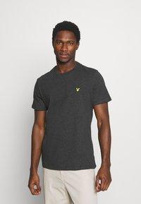Lyle & Scott - PLAIN - T-shirt - bas - charcoal marl - 0