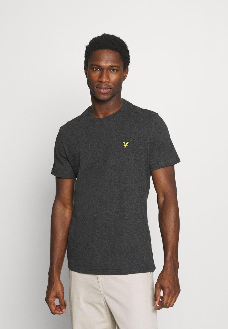 Lyle & Scott - PLAIN - T-shirt - bas - charcoal marl