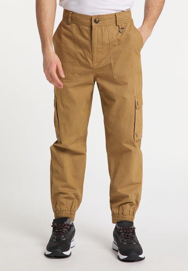 Pantaloni cargo - dunkelsand