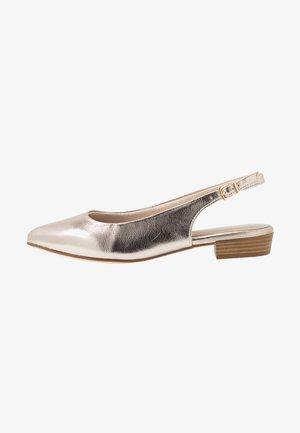 SLING BACK - Slingback ballet pumps - light gold