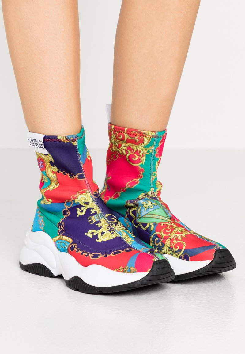 Versace Jeans Couture - CHUNKY SOLE - High-top trainers - multicolor