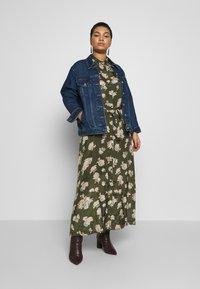 Kaffe Curve - KCILONE MAXI DRESS - Maxi dress - grape leaf - 1