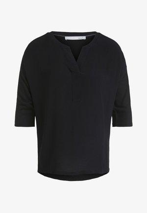 MIT LUREXDETAILS - Long sleeved top - black