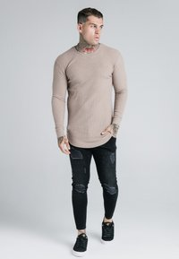 SIKSILK - LONG SLEEVE BRUSHED JUMPER - Strikpullover /Striktrøjer - beige - 1