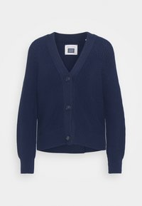 Marc O'Polo - CARDIGAN LONGSLEEVE V NECK BUTTON CLOSURE - Cardigan - night sky - 0