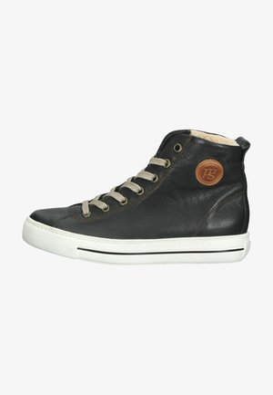 High-top trainers - black/cuoio