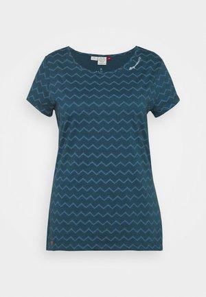 CHEVRON - Print T-shirt - navy