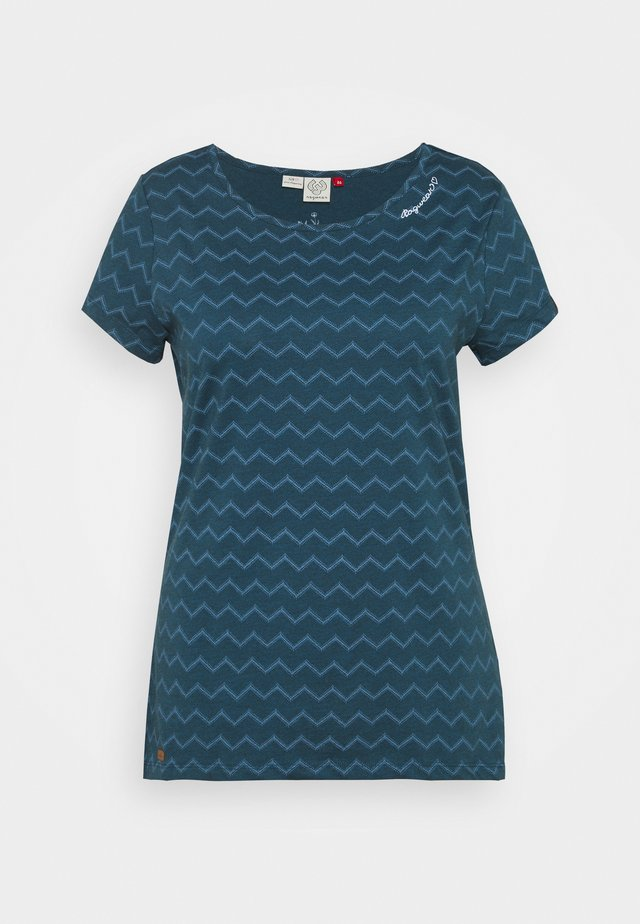 CHEVRON - T-shirts print - navy