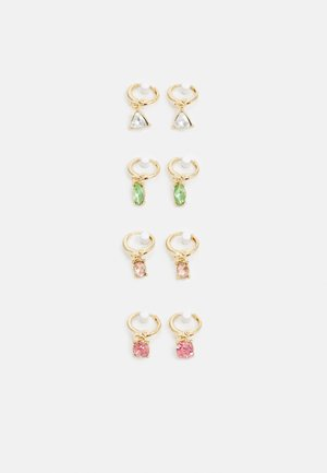 PCLAR EARRINGS 4 PACK - Earrings - gold-coloured/multi
