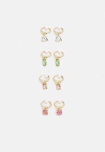 PCLAR EARRINGS 4 PACK - Earrings - gold-coloured/multi