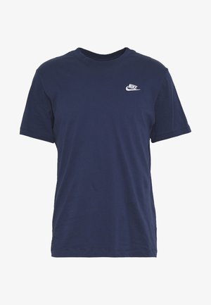 CLUB TEE - T-shirts - midnight navy/white