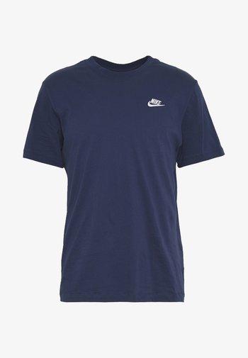 CLUB TEE - Basic T-shirt - midnight navy/white