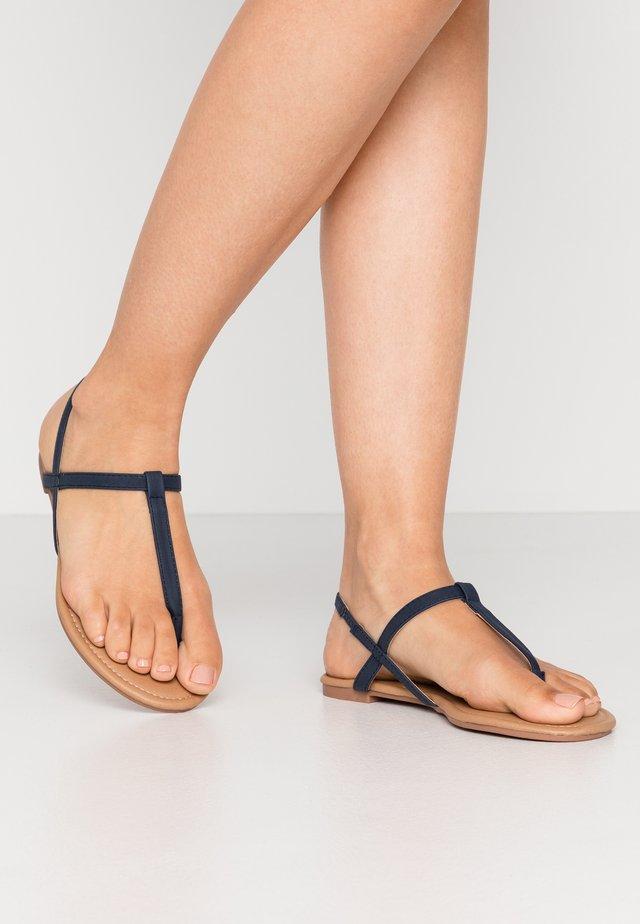 EVERDAY TOE POST - Flip Flops - navy